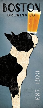 Boston Terrier Brewing Co Panel Ryan Fowler Vintage Beer Ads Dogs Print Poster 8x20
