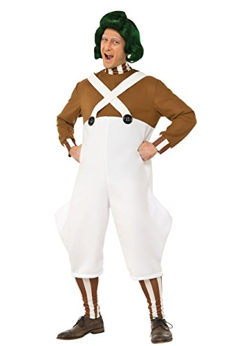 Halloween Costumes Oompa Loompa (Rubie's Men's Willy Wonka and the Chocolate Factory Deluxe Oompa Loompa Costume, Multi, Standard)