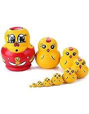 Taoytou 10pcs muñecas Rusas de Madera Matryoshka DIY Craft Nesting Doll para Regalo de niños