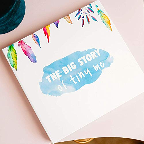 Baby Memory Book for First Five Years with 1st Year Monthly Milestone - Girl or Boy Scrapbook Album Fits 4x6 Photos - Pregnancy Journal & Gender Neutral Baby's Shower Guest & Gift Record (60 Pages)