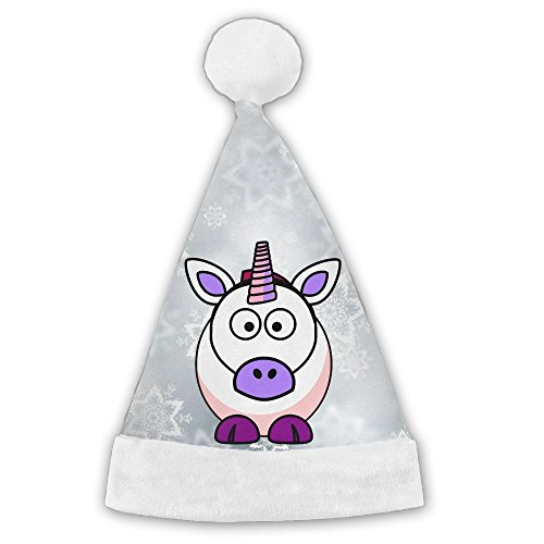 CYMO Cute Cartoon Unicorns Print Celebrate Holiday Christmas Hat