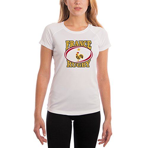 France Rugby Women's UPF Performance T-shirt Large White