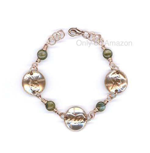Amazon.com: 50th Birthday Jewelry 1967 Penny Bracelet With