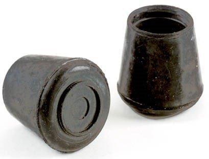 Shepherd Hardware 9226 1-1/2-Inch Inside Diameter Rubber Leg Tips, 2-Pack, Black