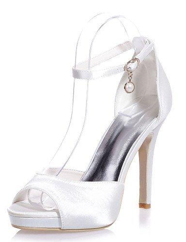 Boda mujer Más Fiesta de Sandalias abierta satén ShangYi de Zapatos colores Rojo Noche punta Tacón Zapatos con boda de disponibles y qxw1v5FnT