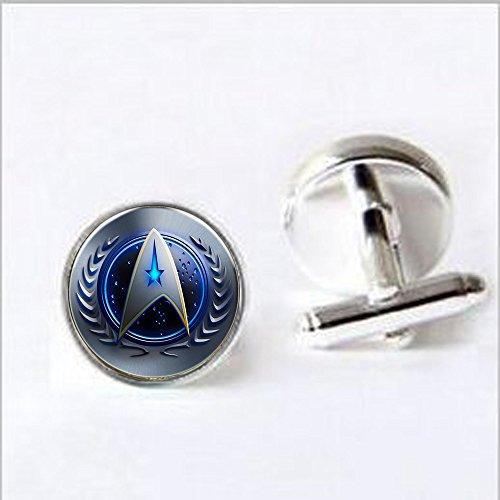- Star Trek Original Series COMMAND Symbol French Wire CUFFLINKS