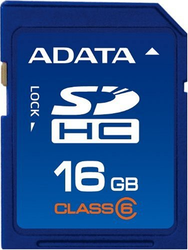 ADATA 16GB Class 6 SDHC Flash Memory (6mb Flash Memory Card)
