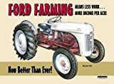 Ford Farming 8N Tractor Tin Sign 12 x 16in