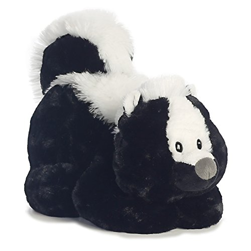 (Aurora 16855 World Tushies Animals/Stinky Plush, White, Black)