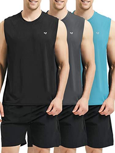 Bodybuilding Tank - Roadbox Men's Performance Sleeveless Workout Muscle Bodybuilding Tank Tops Shirts
