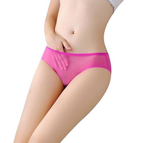 YALL-de malla de la ropa interior de la cintura baja delgado escritos de la ropa interior femenina MRed