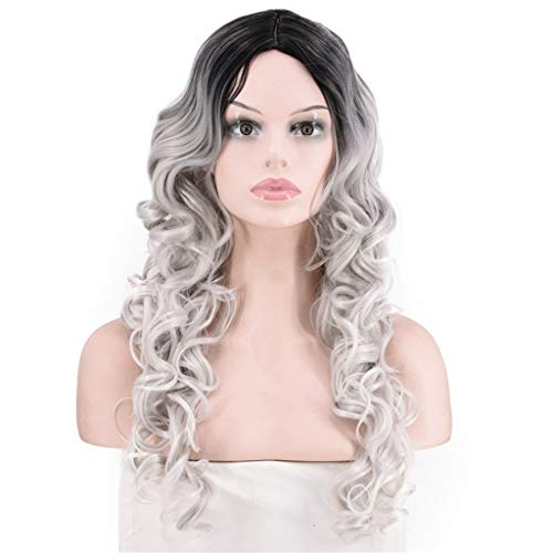 Colour Theme Party Costumes - Tigivemen Mix Colors Curly Wavy Synthetic