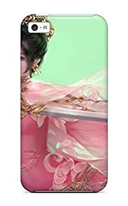 1941937K63529639 Awesome Case Cover/iphone 5c Defender Case Cover(women Warrior)