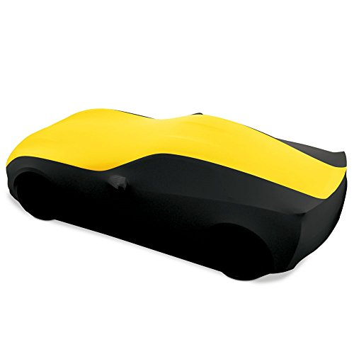 C7 Stingray, Z51, Z06, Grand Sport Corvette Ultraguard Stretch Satin Indoor Car Cover : Sport Series (Yellow/Black)