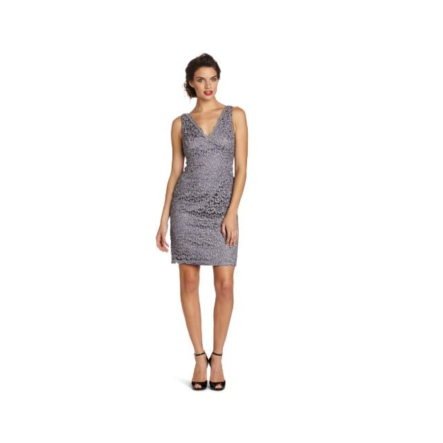 Adrianna Papell Womens Lace Cocktail Dress