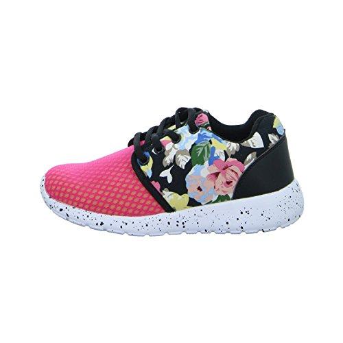 Sneakers AX16901 Mädchen Schnürhalbschuh Rot (Fuchsia)
