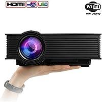 Mileagea LED Projector Mini Portable Multimedia 1080P Full HD Wifi Wireless Home Theater
