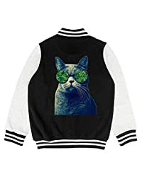 GUISER Marijuana Leaf Weed Cannabis cat Youth Track Jacket for Girls Boys Chassic Youth Sizes Coats