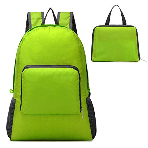 Foldable Lightweight Handy Unisex Hiking Daypack Sports Backpack Green from Passionate Adventure