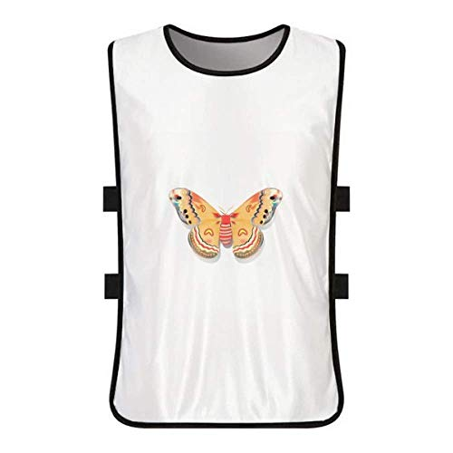 Clothing Kite Butterfly (DIYthinker 3D Chinese Butterfly in Orange Colour White Training Vest Jerseys Shirt Cloth)