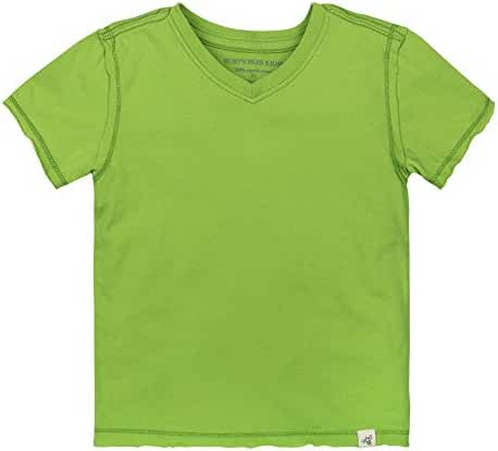 Burt's Bees Baby - Solid Short Sleeve Reverse Seam V Neck Under Shirts, 100% Organic Cotton