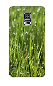 Design For Galaxy S5 Premium Tpu Case Cover Wet Grass Protective Case