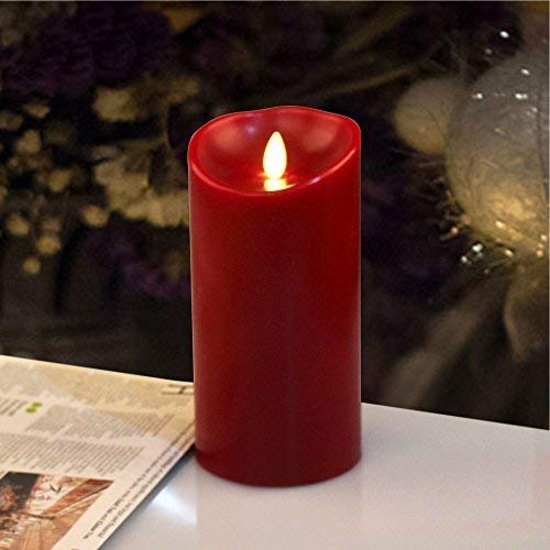 Luminara LED Flameless Candle, Flameless Real Wax Moving Wick LED Candle for Home/Party/Halloween/Christmas/Wedding Decor with Timer Control Cinnamon Scent 3.5