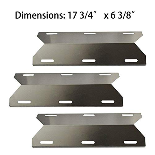 BBQ-Element Gas Grill Heat Plate Shields Replacement Parts for Jenn-Air 720-0336, 720-0337, 720-0512, 3-Pack Grill Burner Cover Heat Tent for Members Mark 720-0586A, Nexgrill and Other Grill Model (Element Gas Grill)