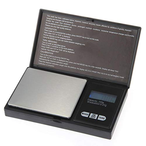 LALICORP 100g 0.01g LCD Digital Pocket Scale Jewelry Gold Gram Balance Weight Scale Pocket Electronic Scales 100% ()