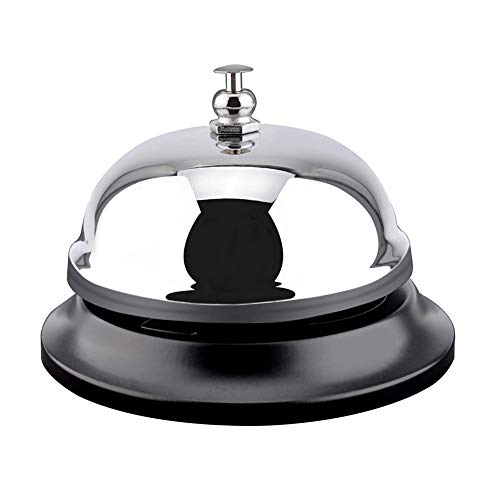 (eroute66 Stainless Steel Desk Dinner Call Bell for Kitchen Hotels Schools Restaurants Antique)