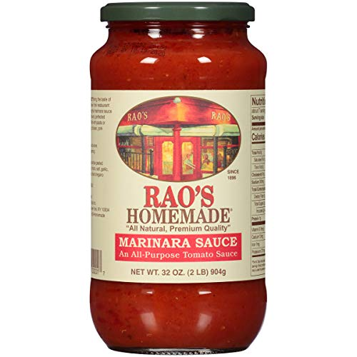 Rao's Homemade, Marinara Sauce, 32 oz., Classic Italian Tomato Sauce, Great on Pasta, Made With Fresh Basil, Italian Tomatoes, Garlic, and Seasonings, No Sugar Added