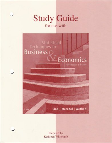 Book cover from Statistical Techniques in Business & Economics Study Guideby Douglas Lind