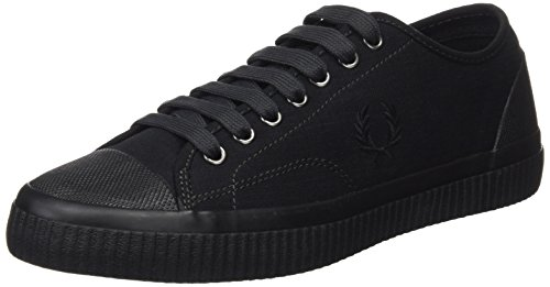 Fred Perry Hughes Shower Resistant Canvas, Scarpe Stringate Oxford Uomo Nero (Black/Porcelain 102)