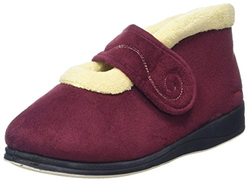 Textile Red Hush Beige Padders Femme Montants Burgundy Chaussons AwaZXXq0xB