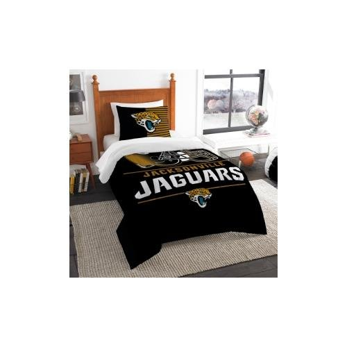 The Northwest Company Jacksonville Jaguars NFL Twin Comforter Set (Draft Series) (64
