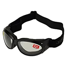 Bobster Cruiser Goggles,Black Frame/Clear Lens,one size