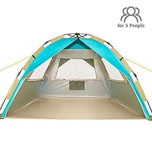 Amazon Com Zomake Instant Beach Tent Sun Shelter 3 4