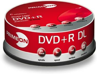 Primeon Dvd R Rohling Double Layer 8x 240min Computer Zubehör