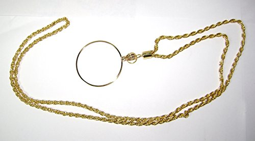 Round Medical Pendant - Walters 4x Large Round Pendant Gold Magnifier