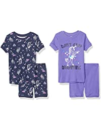 Amazon Brand - Spotted Zebra Baby, Toddler, and Kid's 4-Piece Snug-fit Cotton Pajama Short Set