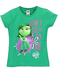 Disney Pixar Inside Out Girls Inside Out T-Shirt Disgust Size 8
