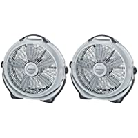 Lasko 20 Wind Machine Air Circulator, Gray Set of 2