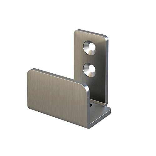 "Stainless Steel Floor Guide Wall Mount Sliding Barn Door Hardware Up to 1-3/8""W 1-1/4""H"