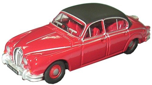 (Oxford Diecast Jaguar Mk5.1cm Regency Red - 1/76 Diecast Model)