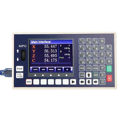4 axis CNC Controller,TC5540H USB G Code and M Code Spindle Control Panel MPG Stand Alone Lathe milling Machine Controller for Welding Equipment