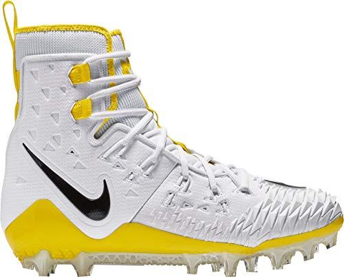 (Nike Men's Force Savage Elite TD Football Cleats, (White/Yellow, 13 D(M) US))