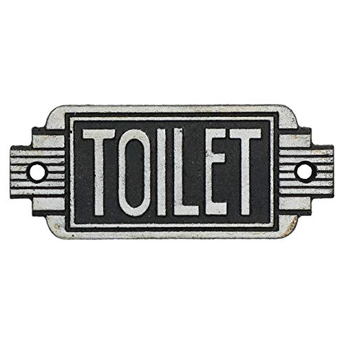 AB Tools Art Deco Toilet Sign Cast Iron Sign Plaque Door Wall Cafe Shop Pub Hotel Bar -