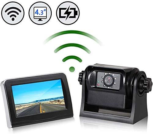 EWAY WiFi Wireless Magnetic Trailer Hitch Backup Rear View Camera & 4.3