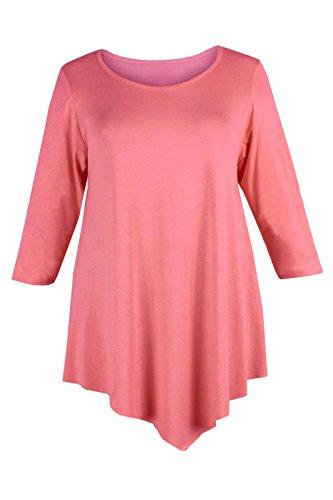 Papaval - Camiseta de manga larga - para mujer Coral