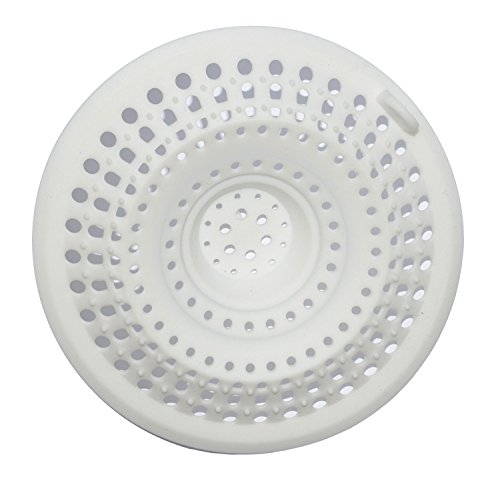 Excelity Drain Protector Hair Catcher Drain Cover(White)